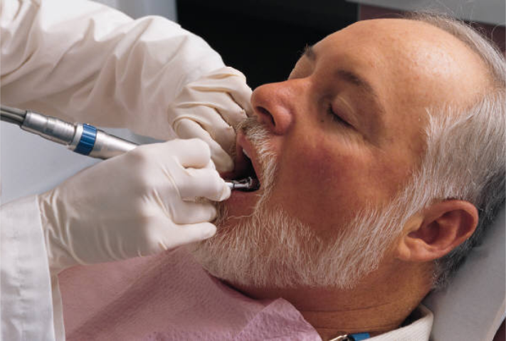 dental patient receiving care